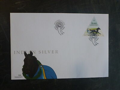 2015 Aland, Finland Harness Racing Stamp Fdc First Day Cover