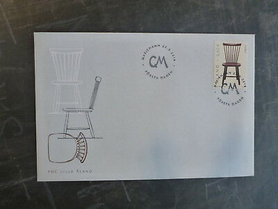 2016 Aland, Finland Lilla Aland-Chair Stamp Fdc First Day Cover