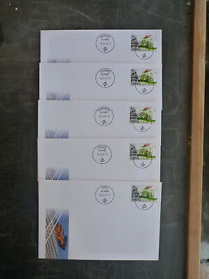 2017 Aland, Finland Set Of 19 Postoffices Think Green Last Day Of Issue Covers