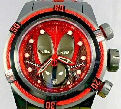 Invicta 27151 Reserve 52mm Marvel Deadpool Bolt Zeus Swiss Chronograph Watch