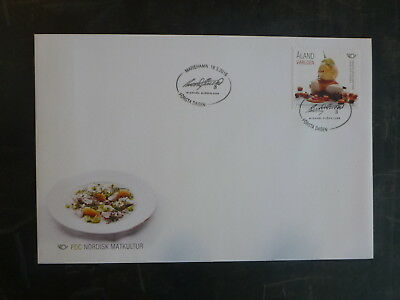 2016 Aland, Finland Cuisine Stamp Fdc First Day Cover
