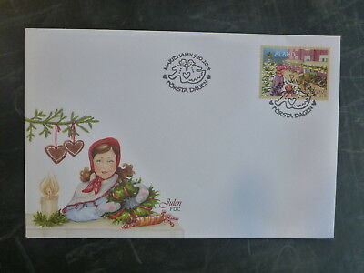 2014 Aland, Finland Christmas Stamp Fdc First Day Cover