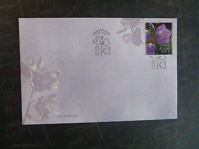 2015 Aland, Finland Bellflower Stamp Fdc First Day Cover