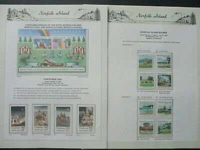 ESTATE: Norfolk Island Collection on Pages- Must Have!!Excellent Item! (p1025)