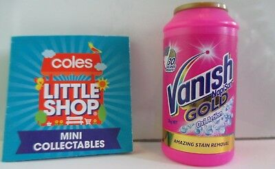 COLES Mini Collectables Little Shop VANISH NAPISAN GOLD. Brand New
