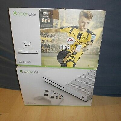 Microsoft XBOX ONE S Konsole 500GB Weiss + Controller  ,OVP, TOP !   P11-02-19#