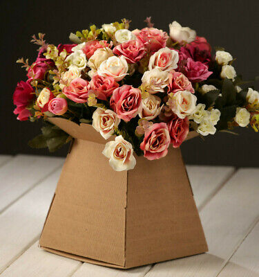 Living Vase Box Florist Rustic Craft Flower Transporter Sweet Boxes Bouquet