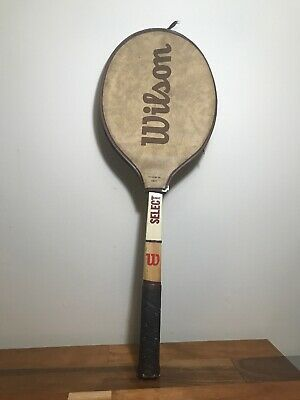 Vtg WILSON Select Jimmy Connors Wood Tennis Racquet (70s) Original Cover BEAUTY!