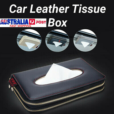 Leather Tissue Storage Box Car Back Seat Napkin Holder Pumping Paper Cover Case