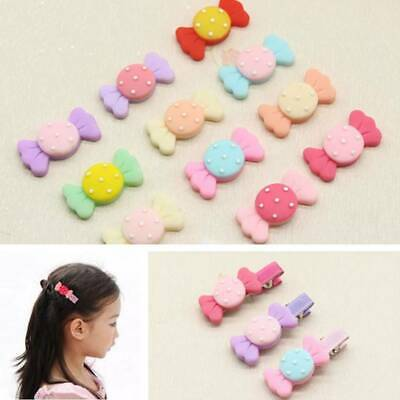 Fashion 6Pcs Cute Hair Clip Kids Girls Hairpin Acrylic Barrettes Accessories