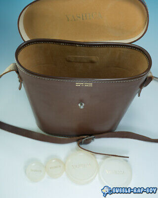 Clean Brown Yashica Binocular Case For 10X50/7X50 With Strap Plus Yashica Caps