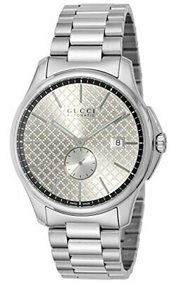 4a0457f3184 GUCCI WATCH G Timeless Silver Dial Automatic Volume YA126320 Mens ...