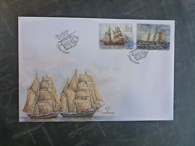 2015 Aland, Finland Ships Set 2 Stamps Fdc First Day Cover