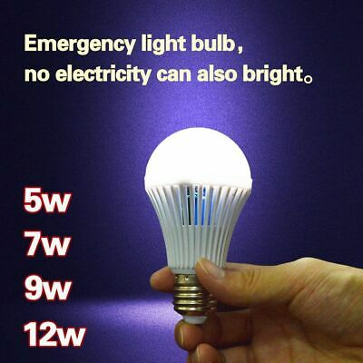 Rechargeable E27 Intelligent Lamp Emergency Bulb Energy Saving LED Lighting