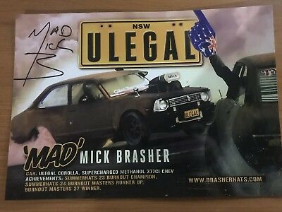 Mad Mick Brasher ULEGAL Signed Card