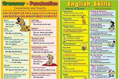 Posters -  Grammar & Punctuation  + English Skills   - 2 Posters / Educational
