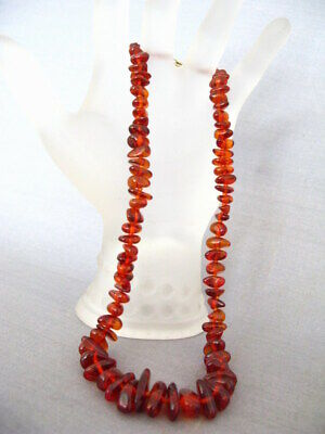 Art Deco Bernstein Collier Kette Inklusen Baltic Sea Amber Necklace Nr.69 Edelsteine Farbsteine