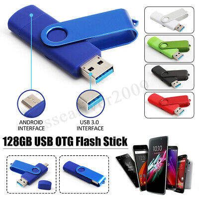 128GB USB 3.0 Flash Drive Memory Stick Pen Thumb U Disk For OTG Smart Phone PC