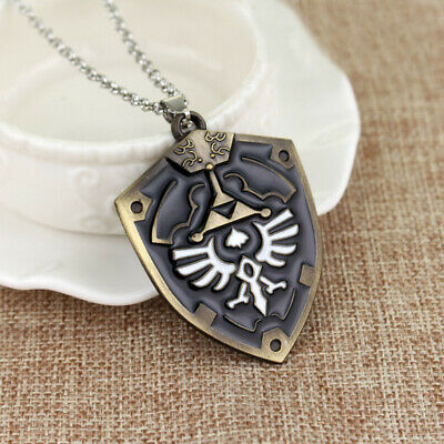 Ancient Zelda Viking Medieval Shield Protection Wiccan Pagan Necklace Pendant