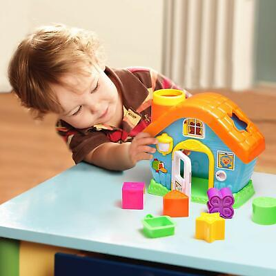My First Colour & Shape Sorting House Toy Baby Early Development Recognition Set