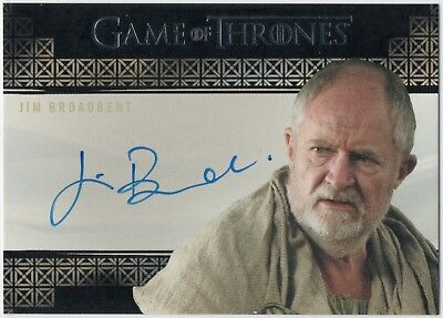 Game of Thrones Season 7 Jim Broadbent Auto Autograph Valyrian Steel Archive Box