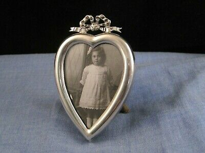 Sterling Silver Sweetheart Antique Victorian Miniature Photo Picture Frame Heart