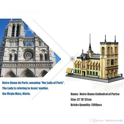 1380Pcs Architecture NOTRE DAME CATHEDRAL of Paris Building Blocks DIY Gift Toys
