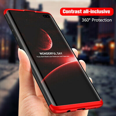 For Samsung Galaxy S10+ S10e 360° Full Protection Case Hybrid Armor Hard Cover