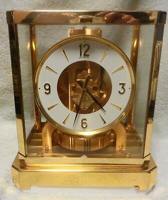 ATMOS LECOULTRE 528 CALIBRE MODEL CLOCK With ORIGINAL BOX /PACKING BEAUTY