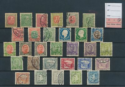 LJ80289 Iceland nice lot of good stamps used