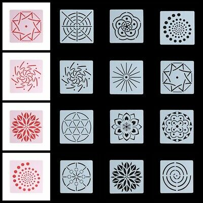 Decorative Scrapbooking Mandala Auxiliary Layering Stencils Painting template