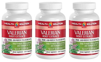 blood pressure pills - VALERIAN ROOT EXTRACT - valerian root dried - 3 Bottles