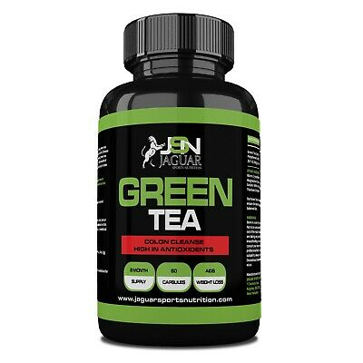 Green Tea High Strength 850mg Capsules Detox Colon Cleanse Weight Loss Diet Pill