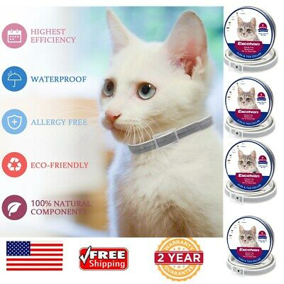 4x Excelvan Waterproof Flea and Tick Collar 25'' 6Months Protection for All Cats