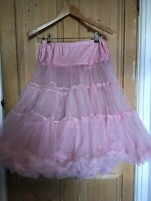 Pink organza layered petticoat 26 inches S-M used worn once