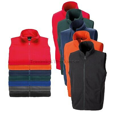Result Microfleece Gilet Lightweight Bodywarmer Fleece Fabric Zip Jacket (R116X)