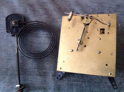Clock Movement Chiming 11x10cm Plates With Chime Gong For Spare Parts Repair