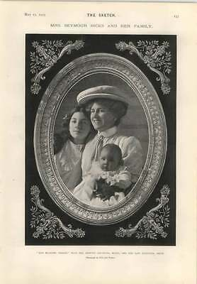1905 Miss Ellaline Terriss With Her Adopted Daughter Mabel And Baby Betty