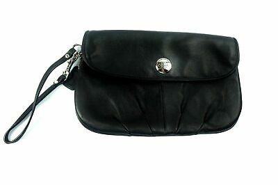5ae88df645 COACH 1941 Collection WRISTLET CLUTCH GLOVE TANNED Black LEATHER MINT  Condition