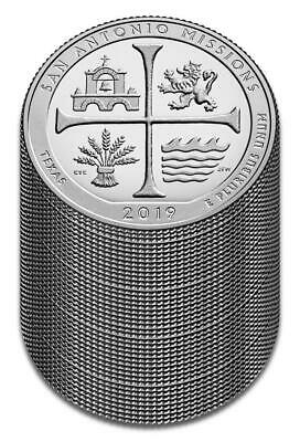 "2019 ""S"" ATB San Antonio Missions, Clad Quarter, Proof, Roll/Lot of 40"