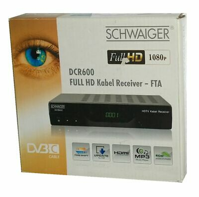 Schwaiger DCR 600 Full HD Kabel Receiver / Media-Player 1080p / HDMI