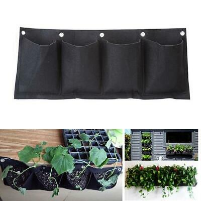 4 Pockets Wall Hanging Planter Bags Wall-mounted Growing for Indoor/outdoor 6L