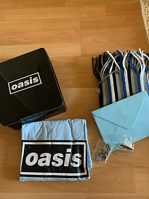 Oasis - Definitely Maybe 15th Anniversary Boxset Shirt, Scarf & Badges - Promo
