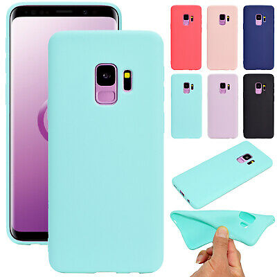 For Samsung A8 2018 Note 9 S9 S8 Candy Color Soft TPU Silicone Case Cover Skin