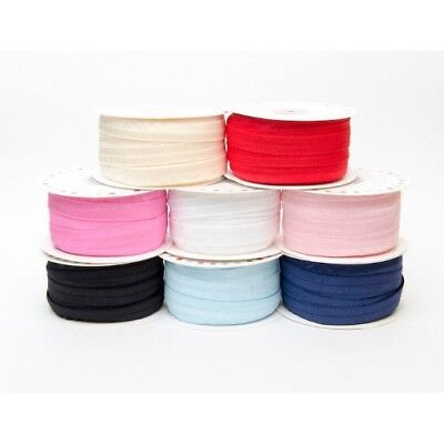 Headband Fold Over Elastic 16mm Soft Trimming 10 Shades 1 5 10 or 25 Metres