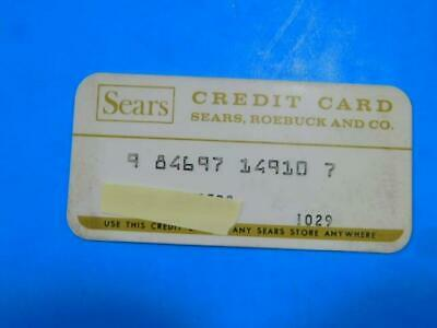 Sears Roebuck Credit Card 1960s 1970s Fashion Department Store Toys Charge