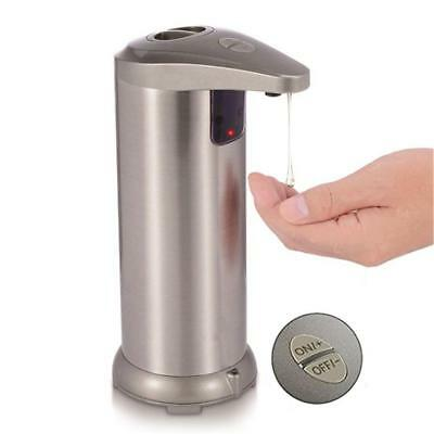 250ML Hands Automatic IR Sensor Stainless Steel Touchless Soap Liquid Dispenser