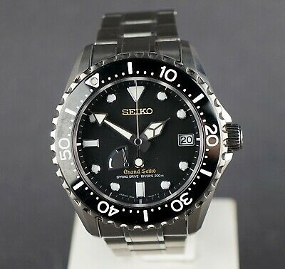 wholesale dealer 08f97 9bf9f GRAND SEIKO SPRING Drive Diver's 200m Titanium SBGA031 W/ BOX & PAPERS #  WS78