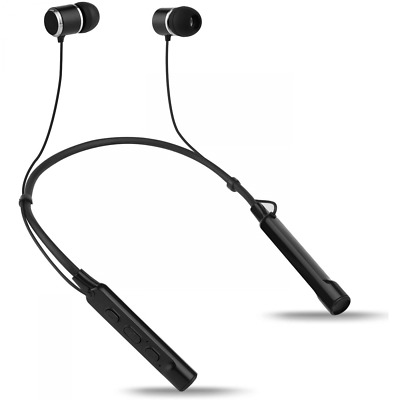 Groov-e Connect Bluetooth Wireless Earphones with Neckband, 8-10 Hours Playback,