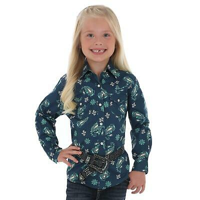 fbd48364 WRANGLER GIRLS PINK & Turquoise Plaid Snap Up Short Sleeve Western ...